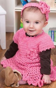 Little Sweetie Dress & Headband | 6m, 12m, 18m, 24m | Ravelry | Free Pattern