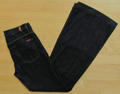 7 Seven for all Mankind Jeans 28 Ginger Dark Mercer Wide leg Trouser Flare 34""