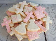 Girl Baptism Cookies, Christening Gown Cookies