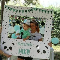 Panda Themed Party, Panda Birthday Party, Panda Party, Birthday Diy, First Birthday Parties, Diy Party Crafts, Craft Party, Festa Party, Backdrops For Parties