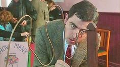Mr. Bean has a Masters degree in electrical engineering  Rowan Atkinson is an alumnus of The Queen's College Oxford which made him an honorary fellow in 2006  #human #images #Oxford #Rowan Atkinson