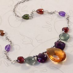 Brand new necklace design, bold jewel tones, perfect for the holidays!  $130... Take 10% OFF with coupon code PIN14