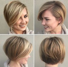 Short bob hairstyles are cute, chic and really stylish! So in this gallery we have collected Pretty Short Bob Hairstyles of 2016 that can inspire you to go. Cut My Hair, New Hair, Short Hair Cuts, Short Hair Styles, Short Bob Haircuts, Pixie Haircut Long, Long Pixie Hair, Long To Short Hair, Haircut And Color