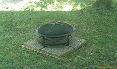 Finally got our fire pit out of the box and in the yard. I put cardboard under the stones to keep grass/weeds growning up between them. Patio Ideas, Backyard Ideas, Backyard Hill Landscaping, Grass Weeds, Sweet Home, Stones, Fire, Landscape, Box