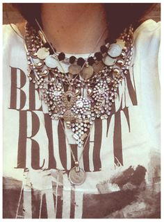 My neck knows how to party. A Lesson in Layering Jewelry