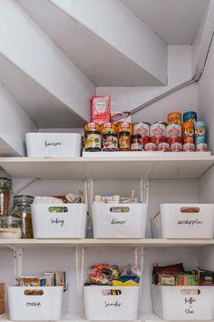 54 Ideas Diy Organization Kitchen Organizing Ideas Tips Home Organisation, Kitchen Organization, Organization Hacks, Organizing Ideas, Organising, Staircase Storage, Pantry Design, Tidy Up, Declutter