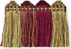 Silk Cut Fringe Bordeaux by Kravet Couture Red Fabric, Silk Fabric, Fabric Outlet, Upholstery Trim, Pattern Names, Drapery Fabric, Famous Brands, Fabric Patterns, Bordeaux