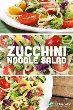 Super easy and delicious Zucchini Noodle Salad recipe!