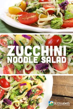 Super easy and delicious Zucchini Noodle Salad recipe!