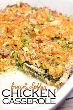 The classic combo of broccoli and cheddar work wonderfully in this healthy Broccoli Cheddar Chicken Casserole! Full of fat for a perfect low carb dinner! More recipes like this at www.tasteaholics.com