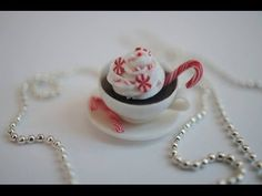 ▶ Candy Cane Coffee Tutorial, Polymer Clay Miniature Food Tutorial - YouTube