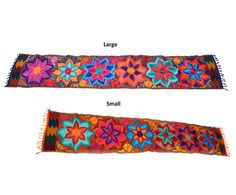 Bohemian Table Runner Multicolor Floral Table by IKALAoutfitter