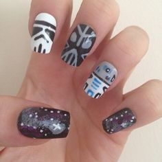 Star Wars space nails