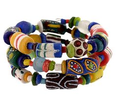 Ghana African Festival Coil Bracelet - Every Purchase Fights Famine in the Horn of Africa & Combats Hunger in the U.S.