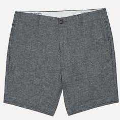 "Frank & Oak | 7.5"" Sheldon Herringbone Shorts in Asphalt"