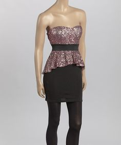 Loving This Black Pink Gold Peplum Dress On Irene Carpenter Night Out Dresses