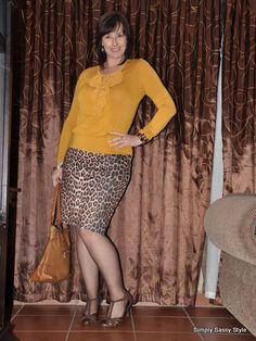 #Leopard print pencil skirt  #Dance shoes  #Mustard top  #Truworths  #Mr. P