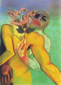 cavetocanvas: Francesco Clemente, Abbraccio, 1983