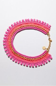 J'adore: 'Pink Champagne' necklace