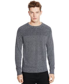 Kenneth Cole Reaction Marled Crew-Neck Sweater Men - Sweaters - Macy s b5767f911