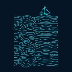 Sailing T Shirt By Aquamarine Design By Humans