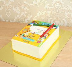 """Детский торт """"Букварь""""  Букварь - главная книга каждого первоклашки☺️ А чтобы отпраздновать это знаменательное событие, подарите своему маленькому школьнику торт в виде букваря и он навсегда запомнит день, когда он пошел первый раз в первый класс  С радостью изготовим, а если пожелаете, то и доставим #детскийторт от 2-х кг всего за 2150₽/кг  Специалисты #Абелло готовы помочь с выбором красивого и качественного десерта по любому поводу по единому номеру: +7(495)565-3838…"""