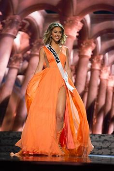 Miss California Dress at the Miss USA 2016 pageant during Preliminaries.   Want to see more pageant dresses? See Miss USA 2016 Dresses from Preliminaries | http://thepageantplanet.com/miss-usa-2016-dresses-from-preliminaries/