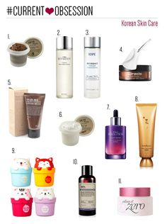 Current beauty obsession: Korean skin care products