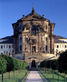 Castle Kuks, Czech republic My favourite place with so many impressive statues by M. Beautiful Castles, Beautiful Places, Prague Czech Republic, Baroque Architecture, Castle House, Europe Photos, Central Europe, Places To Visit, Around The Worlds