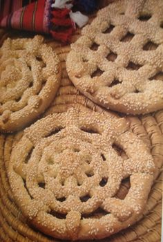 Cypriot Glystarkes (Sweet Sesame Rusk's) Ingredients: 4 kg plus 4 cups of soft flour (pastry flour) 6 cups of hard flour (bread flour) 6 tsp of salt 4 cups of vegetable shortening 4 cups of sugar 7 cups of warm water 1 level tsp of powder… Greek Bread, Greek Cake, Australian Desserts, Healthy Cooking, Cooking Recipes, Cyprus Food, North Cyprus, Greek Sweets, Sourdough Recipes