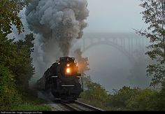 RailPictures.Net Photo: NKP 767 Nickel Plate Road Steam 2-8-4 at Brecksville, Ohio by John Puda