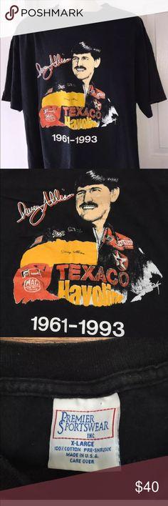 Vintage Davey Allison Texaco Winston Cup TShirt XL Made by premier sports.  No damage.  Size XL. Premier Sports Shirts Tees - Short Sleeve