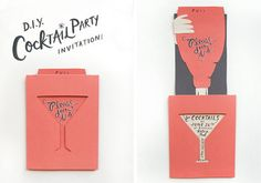 25 Ideas For Party Invitations Diy Cocktail Cocktail Party Invitation, Party Invitations, Invitation Ideas, Invitation Wording, Invitation Design, Invitation Cards, Wedding Invitation, Martha Stewart Crafts, Rifle Paper Co