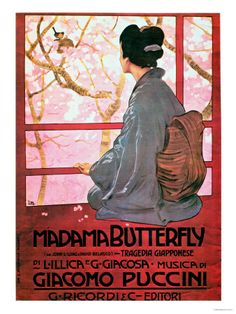 Madama Butterfly Opera by Giacomo Puccini. First Performed in 1904. Classic opera of a trusting Japanese woman and how her love was tragically betrayed by a 19th century American sailor. Based in part on the short story 'Madame Butterfly' (1898) by American lawyer & author John Luther Long (1861-1927).