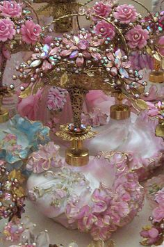 Dream Perfume Bottle Flower Top by Catherine Risi