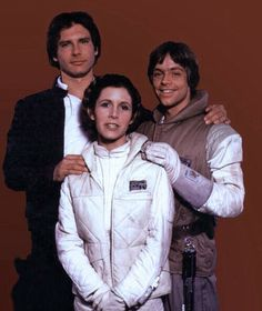 Imagen de carrie fisher, harrison ford, and star wars