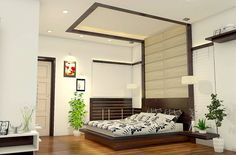 Now that's a super cool bedhead and bedframe. Bedroom Design by BN Architects