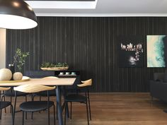 Glosswood is Australia's Leader in Prefinished Timber Lining Boards & Acoustic Panels. Perfect for use in both commercial and residential applications. Timber Feature Wall, Timber Wall Panels, Timber Walls, Charcoal Walls, Acoustic Panels, Beautiful Wall, Wall Decor, Indoor, Interior Design