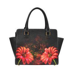 Flower handbag abstract flower handbag red by Traceyleeartdesigns Shoulder Handbags, Shoulder Bag, Abstract Flowers, Colourful Outfits, Red Flowers, Art Designs, Tote Bags, Great Gifts, Red Daisy