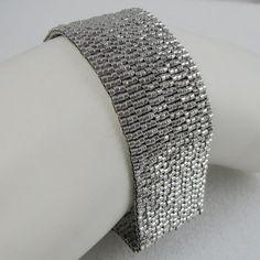 Palladiumplated Peyote Cuff / Bracelet  2615  A Sand by SandFibers