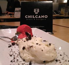 Cheesecake Deconstruida en Chilcano Pisco & Burgers
