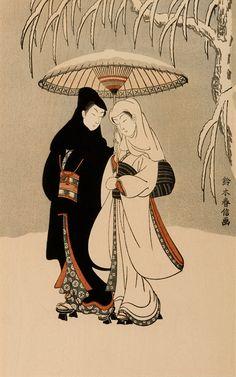 Suzuki Harunobu Winter Scene