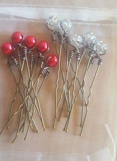 10 jolies pinces à chignon avec leur perles : Accessoires coiffure par creatifnadia