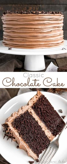 classic chocolate cake pairs moist chocolate cake layers with a rich and si., This classic chocolate cake pairs moist chocolate cake layers with a rich and si.,This classic chocolate cake pairs moist chocolate cake layers with a rich and si. Only Chocolate Cake Recipe, Best Chocolate, Chocolate Desserts, Chocolate Chip Cookies, Cake Chocolate, Chocolate Flavors, Chocolate Smoothies, Chocolate Shakeology, Chocolate Crinkles