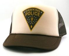 Hawkins Police hat Trucker hat mesh hat snapback hat new adjustable pick  color Stranger Things hat 81d6fa89a93b