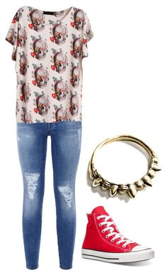 """""""Untitled #314"""" by bleeding-neverland on Polyvore featuring 7 For All Mankind, WithChic, Converse and Pamela Love"""