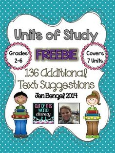 {Freebie} This resource includes 136 additional mentor text suggestions for 7 genres of the reading and writing units of study.  It was created so that schools who were using the units of study in multiple grades could have additional suggested text titles for the lessons.