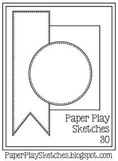 It's Wednesday, and time for another fun new sketch challenge over at Paper Play Sketches ! Card Making Templates, Card Making Tutorials, Making Ideas, Card Templates Printable, Scrapbook Sketches, Card Sketches, Scrapbook Cards, Card Patterns, Card Kit