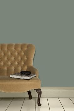 Dining - Farrow & Ball Modern Castle Gray - Emulsion Paint - at Homebase -- Be inspired and make your house a home. Buy now. White Paint Colors, White Paints, Gray Paint, Room Colors, Wall Colors, Hallway Colours, Oval Room Blue, Interior Walls, Quartos