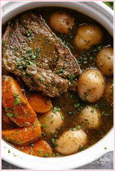 Beef Roast Crock Pot Recipe With Potatoes And Carrots. Slow Cooker Beef Pot Roast Recipe Allrecipes Com. Slow Cooker Pot Roast With Vegetables. Home and Family Slow Cooker Roast, Crock Pot Slow Cooker, Slow Cooker Recipes, Crock Pots, Pot Roast Recipes, Crockpot Recipes, Dinner Recipes, Crockpot Potroast, Dinner Ideas